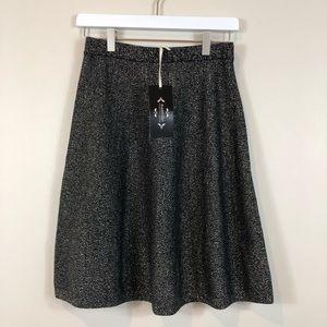 Nanette Lepore Black & Gold Skirt S NWT
